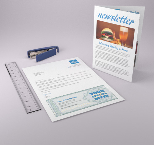 A4 Letter, Simplex, Duplex, with optional Leaflet
